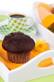 Muffin with coffee cup Stock Photography