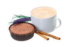 Muffin with coffee Royalty Free Stock Image