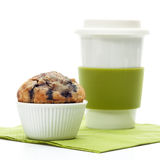 Muffin with coffee mug Royalty Free Stock Image