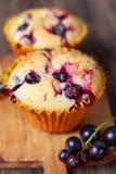 Muffin com corinto preto fotos de stock