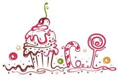 Muffin, compleanno Fotografia Stock Libera da Diritti