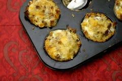 Muffin con bacon fotografia stock libera da diritti