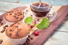 Muffin con caffè Immagine Stock