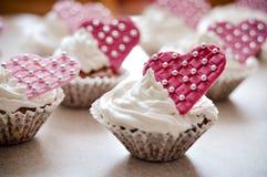 Muffin con cuore Immagine Stock Libera da Diritti