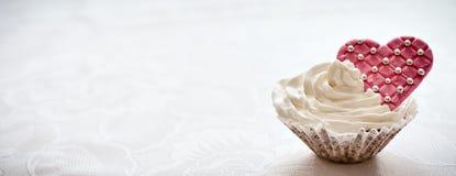 Muffin con cuore Fotografia Stock Libera da Diritti
