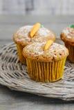 Muffin con la carota fotografia stock libera da diritti