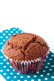 Muffin cookie in a blue napkin Royalty Free Stock Photo