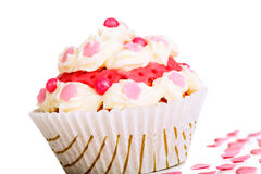 Muffin with cream Royalty Free Stock Images