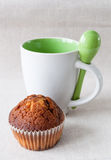 Muffin and cup Royalty Free Stock Photography