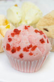 Muffin cup cake or Cotton - wool cake. Royalty Free Stock Photography