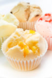 Muffin cup cake or Cotton - wool cake. Royalty Free Stock Photo