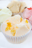 Muffin cup cake or Cotton - wool cake. Stock Image