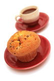 Muffin and cup of coffee. Stock Images