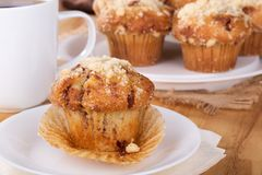 Muffin and Cup of Coffee Royalty Free Stock Photo