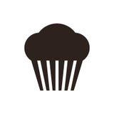 Muffin. Cupcake icon Stock Photos