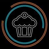 Muffin - cupcake illustration, vector dessert - delicious sweet, bakery symbol vector illustration