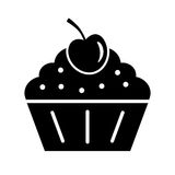 Muffin cupcake vector icon Stock Images