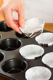 Muffin Cups Royalty Free Stock Photography