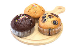 Muffin on a cutting board Royalty Free Stock Image