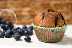 Muffin de blueberry Fotos de Stock Royalty Free