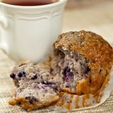 Muffin de blueberry Imagem de Stock Royalty Free