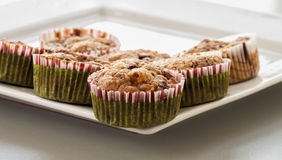 Muffin de blueberry caseiro para o Natal Fotos de Stock Royalty Free