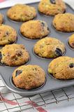 Muffin de blueberry da banana Fotografia de Stock