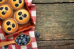 Muffin de blueberry doces imagem de stock