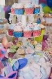 Muffin dei bigné Fotografia Stock