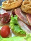 Muffin del bacon Immagini Stock Libere da Diritti