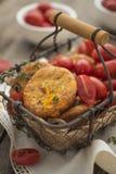 Muffin del cheto con cheddar Fotografie Stock