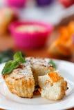 Muffin del formaggio con la zucca Fotografie Stock