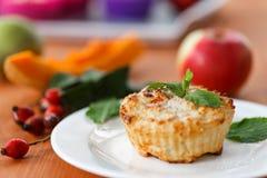 Muffin del formaggio con la zucca Immagini Stock Libere da Diritti
