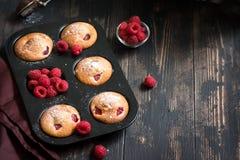 Muffin del lampone Immagine Stock