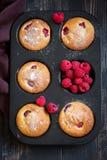 Muffin del lampone Fotografie Stock Libere da Diritti
