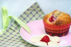 Muffin del lampone Fotografia Stock