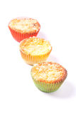 Muffin del rabarbaro Immagine Stock