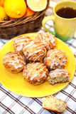 Muffin del seme di papavero del limone Fotografia Stock Libera da Diritti