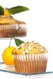 Muffin 2 del seme di papavero del limone fotografia stock