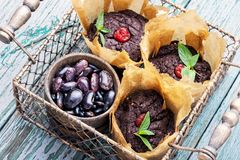 Muffin del vegano dai fagioli Immagini Stock