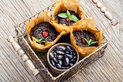 Muffin del vegano dai fagioli Immagini Stock Libere da Diritti