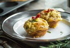 Muffin dell'uovo fotografie stock libere da diritti