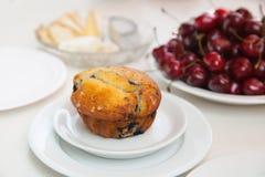 Muffin della bacca e una ciliegia Immagine Stock Libera da Diritti