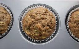 Muffin della banana dello zucchini Immagini Stock