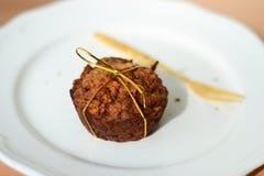 Muffin della carota Fotografia Stock