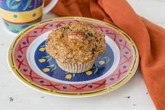 Muffin della carota del pecan Fotografia Stock Libera da Diritti