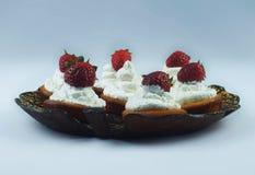 Muffin della fragola Fotografie Stock