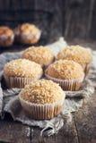 Muffin della noce di cocco Immagini Stock