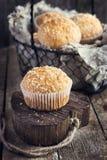 Muffin della noce di cocco Immagini Stock Libere da Diritti