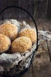 Muffin della noce di cocco Fotografia Stock
